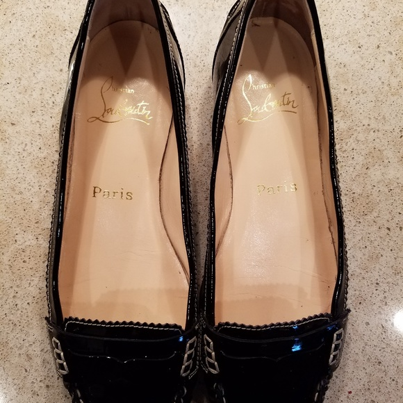 5e233a5cf6c Christian Louboutin patent penny loafer
